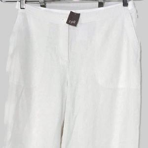 J Jill Ankle Pants Linen Rayon Women Size M